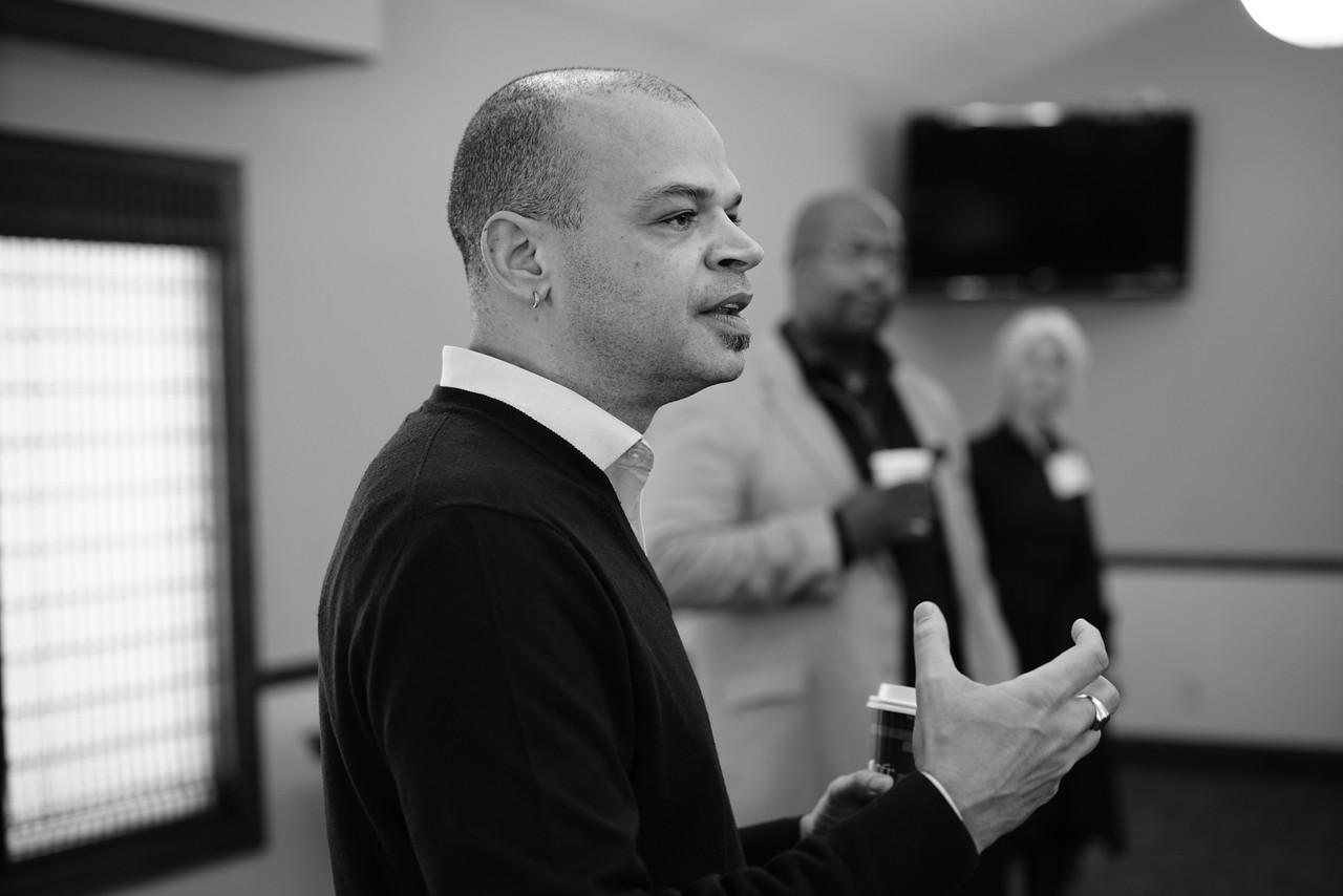 Glenn Harris speaking at a GARE meeting