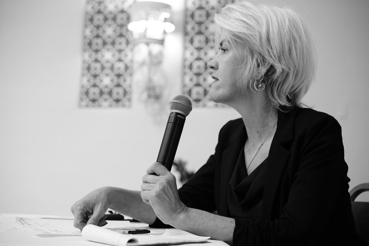 Julie Nelson speaking at a GARE workshop
