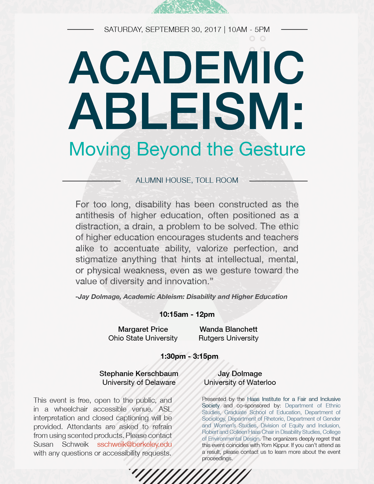 essay on ableism Ableism is also the belief that people with disabilities need to be fixed or cannot function as full members of society and that having a disability is a defect rather than a dimension of.