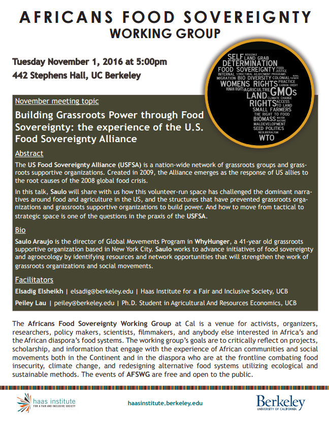 Building Grassroots Power through Food Sovereignty: the experience ...
