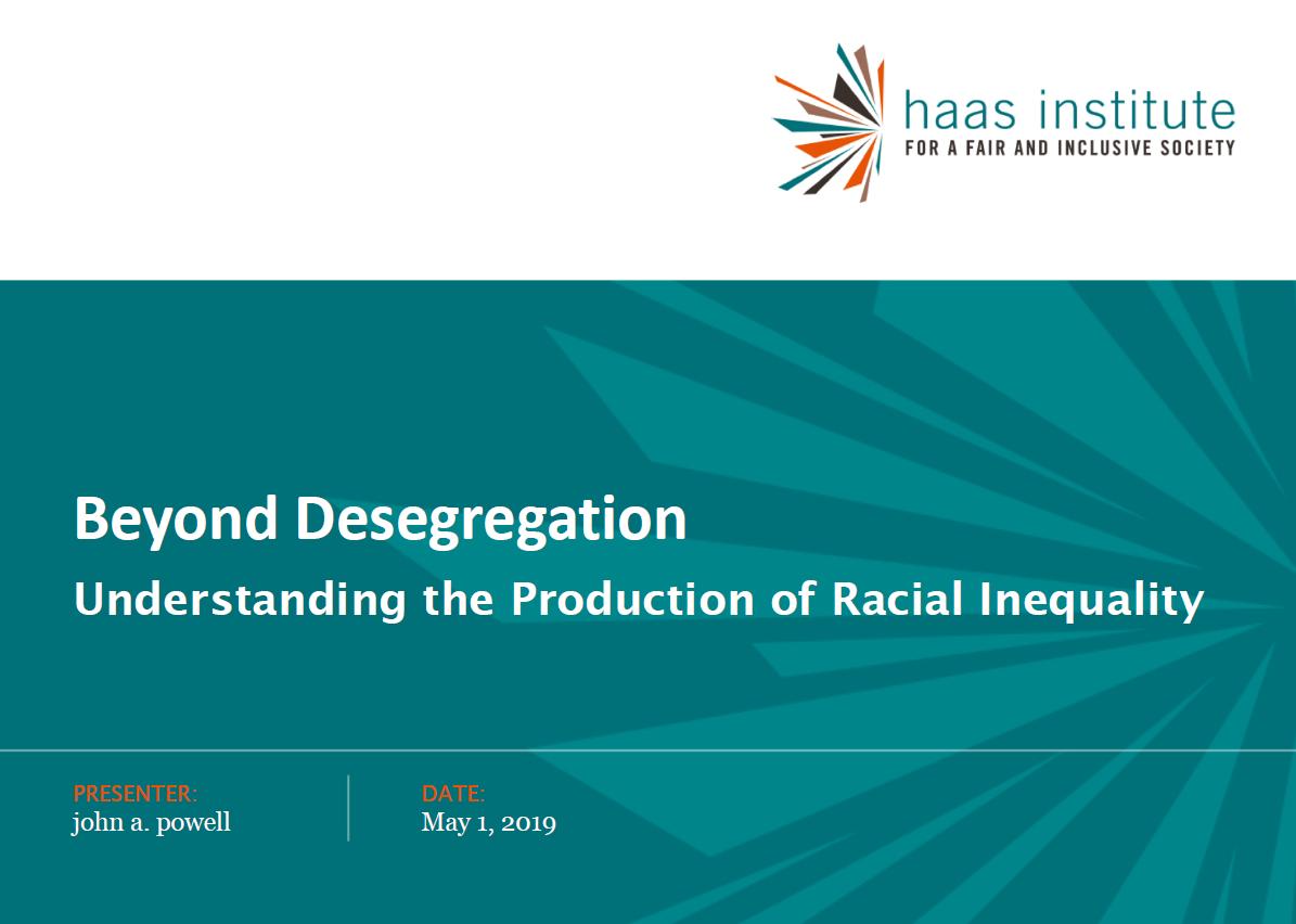 slide from john powell beyond segregation presentation