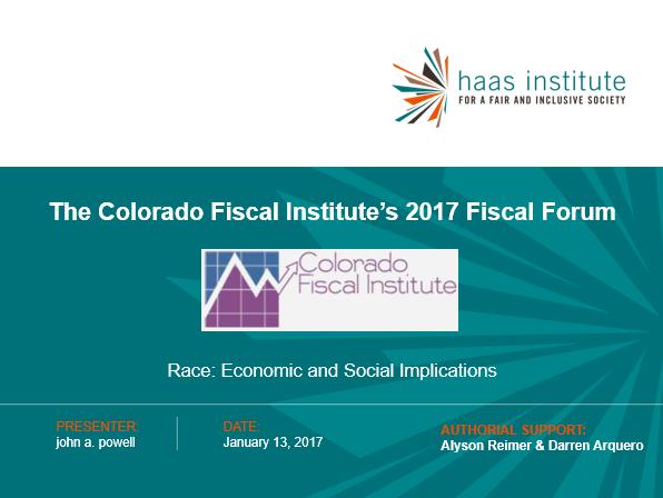 Colorado Fiscal 2017 cover