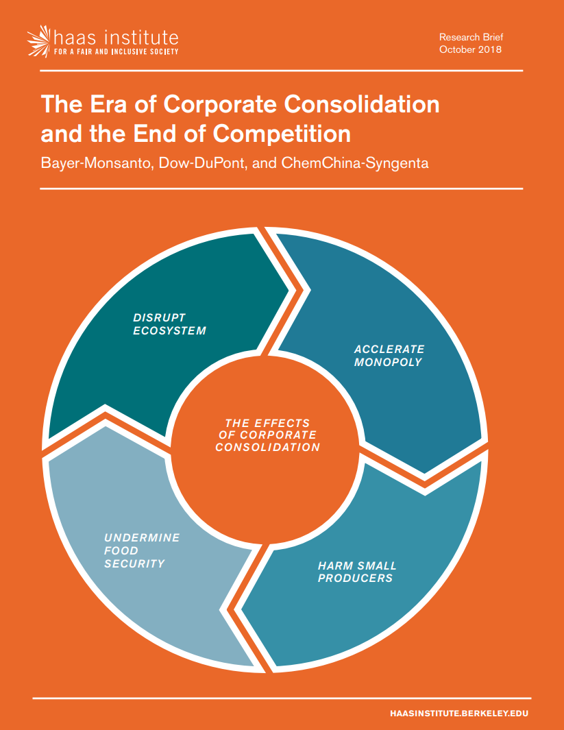 Cover of The Era of Corporate Consolidation and the End of Competition report