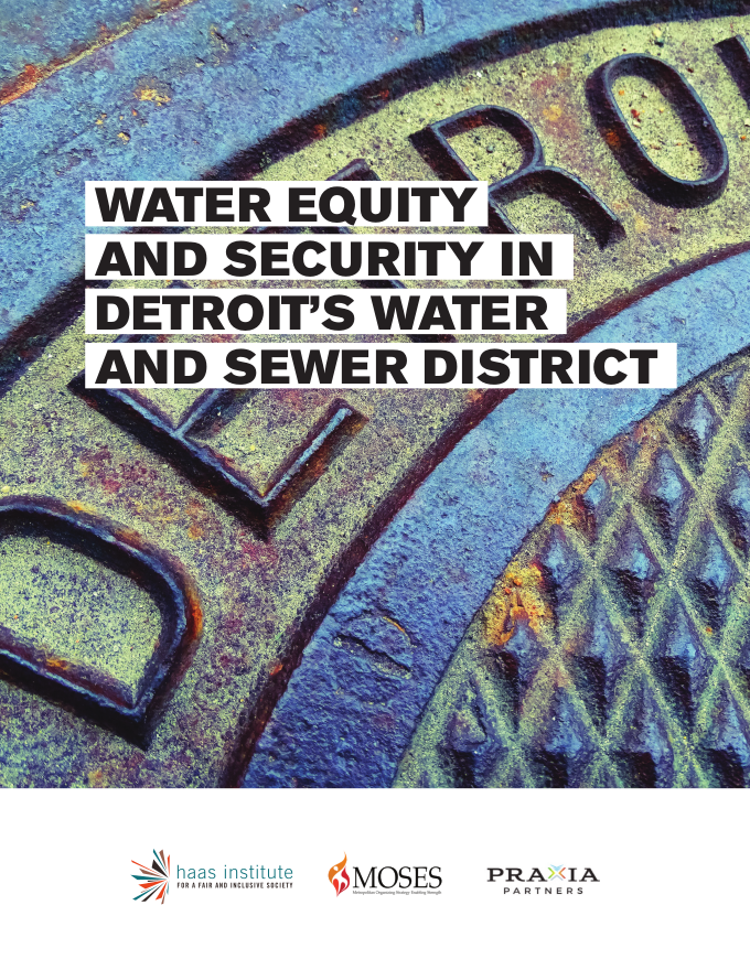 The Cover of the Detroit Water equity report with an image of a sewer