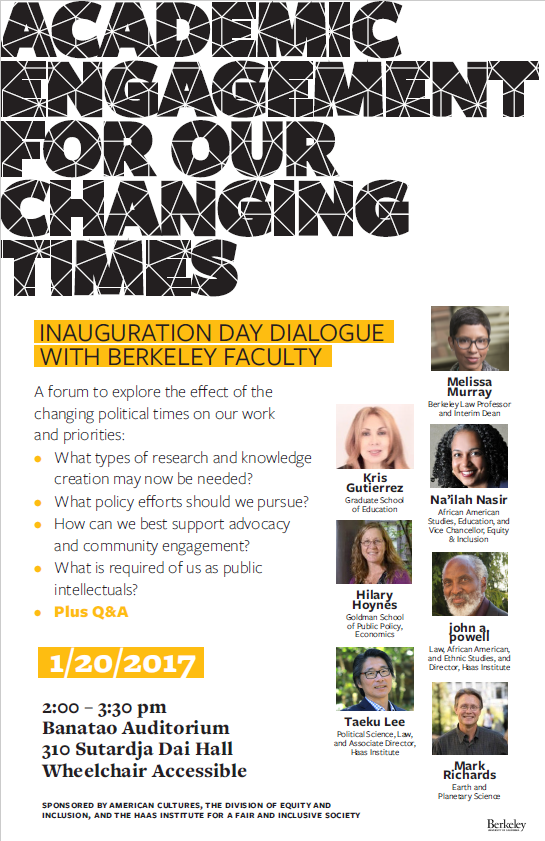 Inauguration Day Forum Flyer