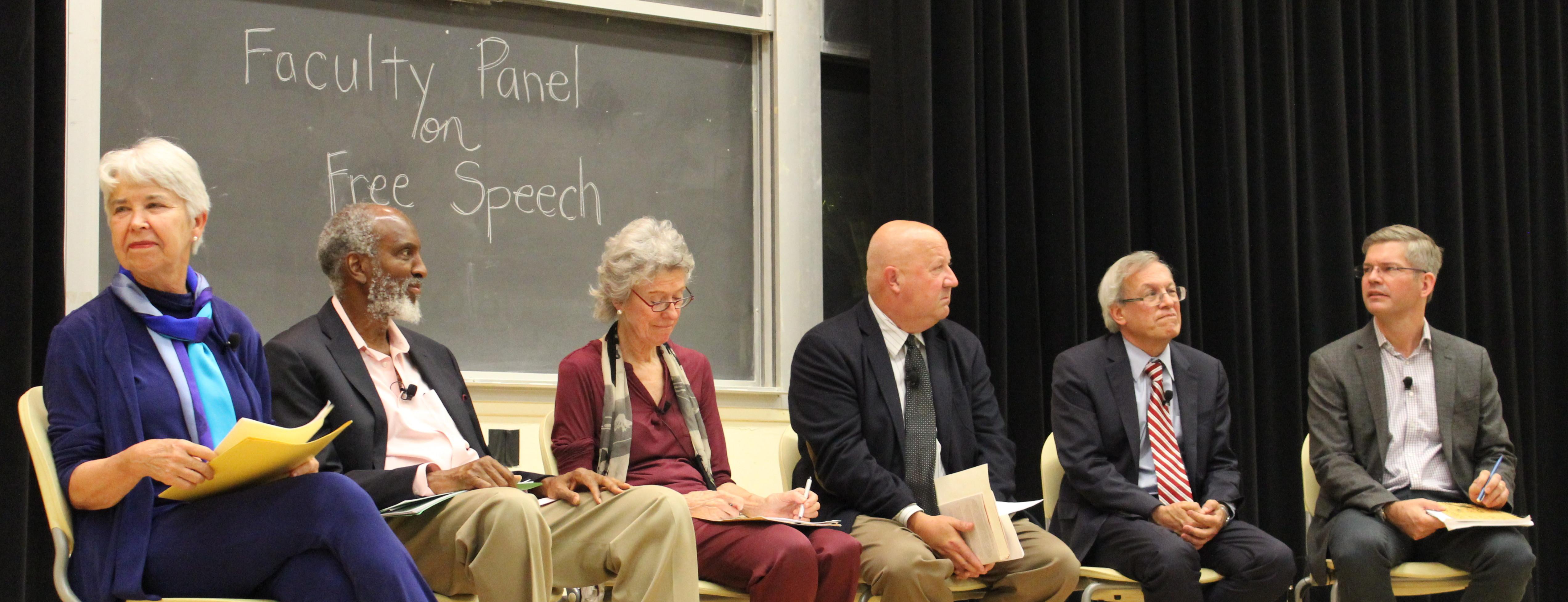 Faculty panel on free speech