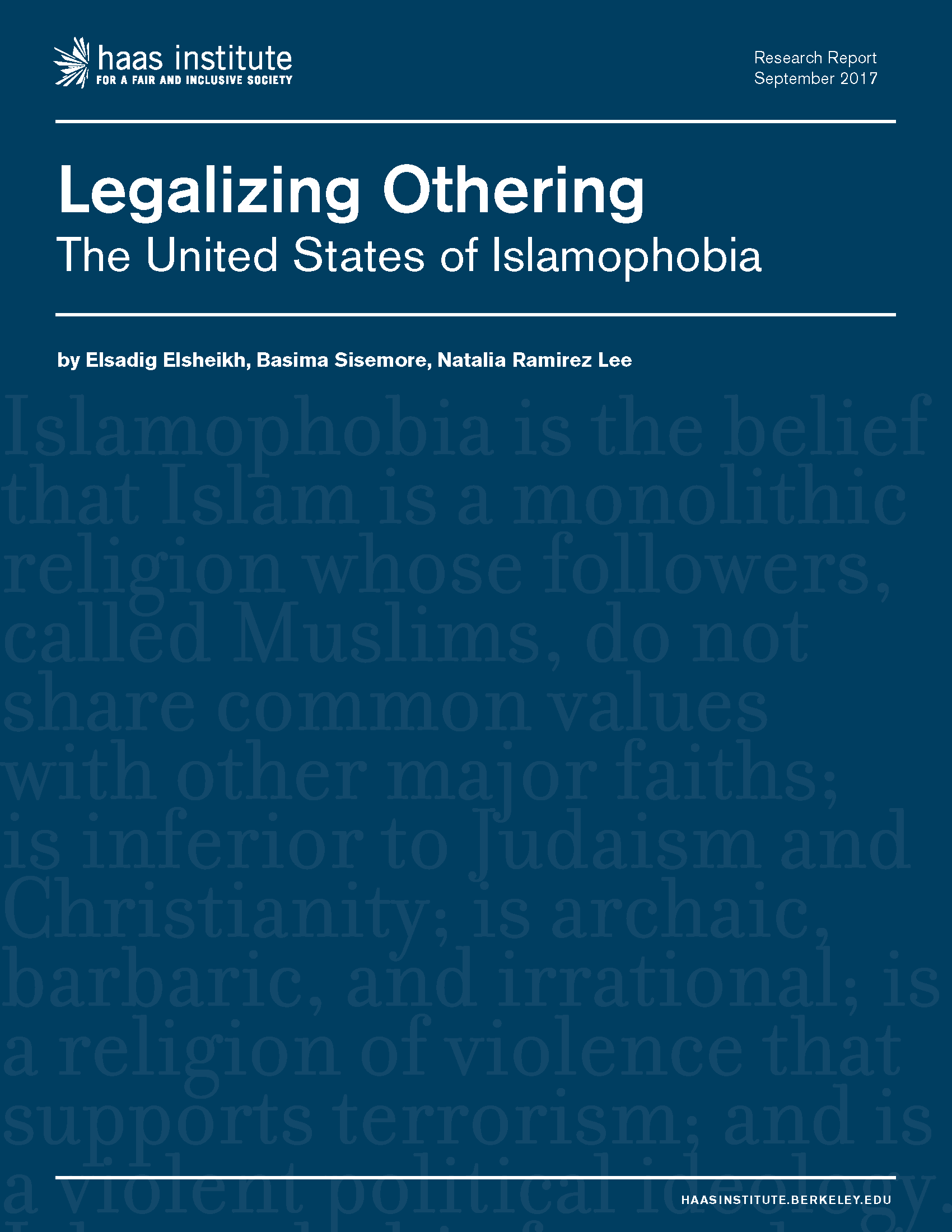 Legalizing Othering cover
