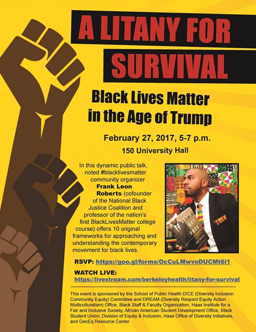 A Litany for Survival: Black Lives Matter in the Age of Trump