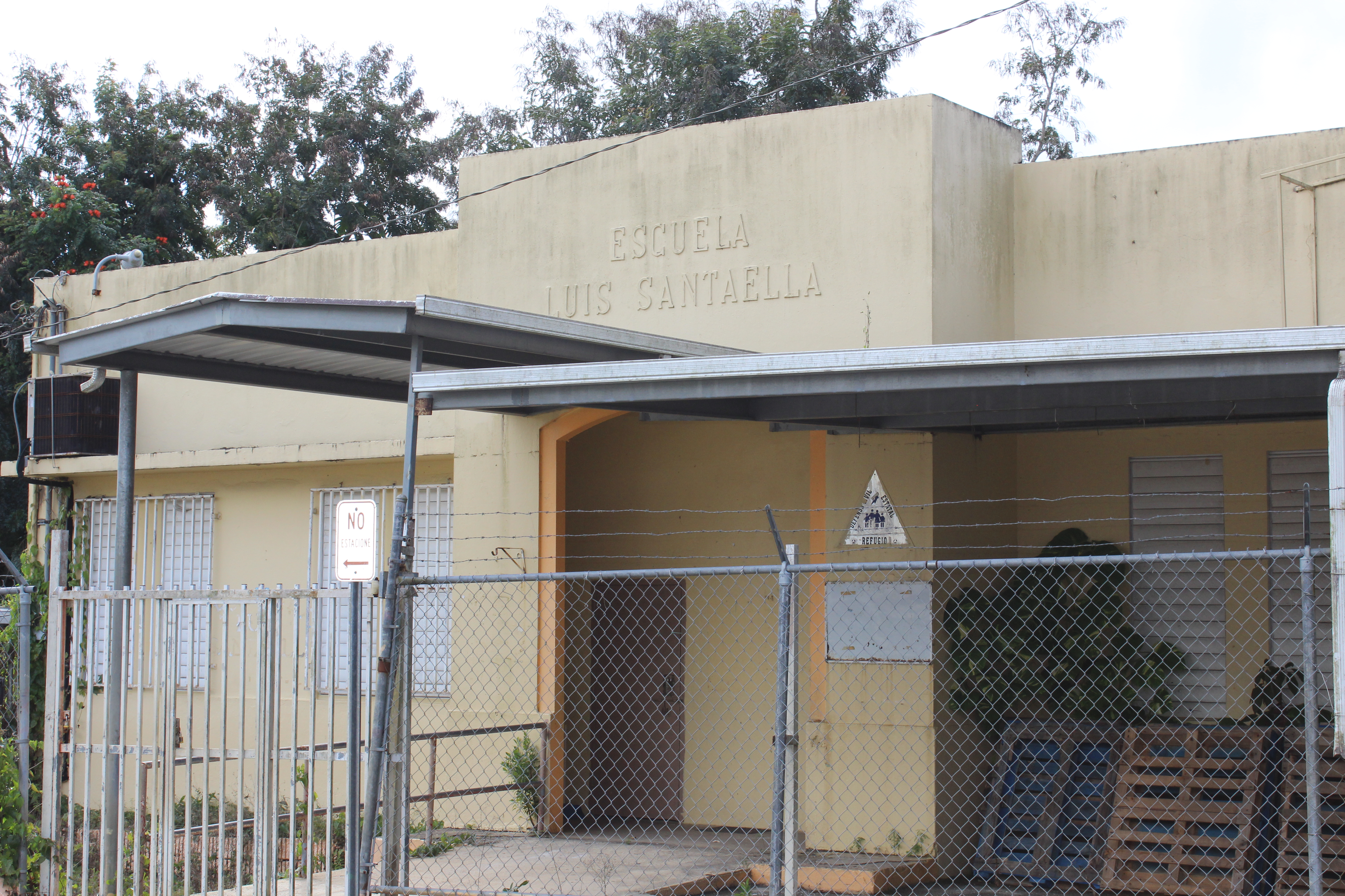 Picture shows Escuela Luis Santaella, a shut down school outside of San Juan, Puerto Rico