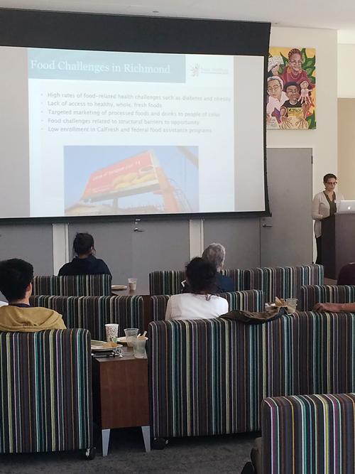 Nadia Barhoum presents at Food Policy event