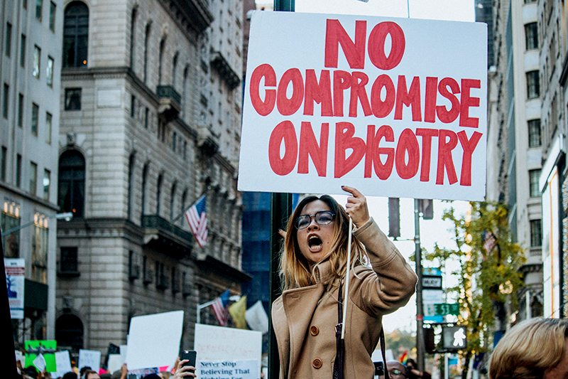 No Compromise on Bigotry Sign, Mathias Wasick, Creative Commons License via Flickr