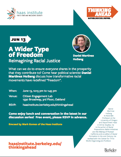 Flyer for Thinking Ahead June Talk